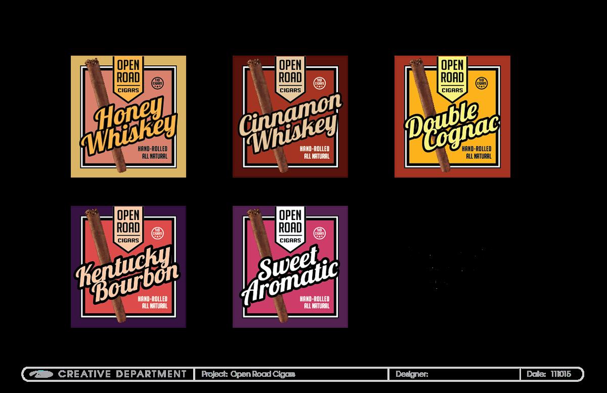 Cigar branding packaging exploration. Clipart road open road