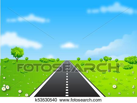Clipart road open road. Portal