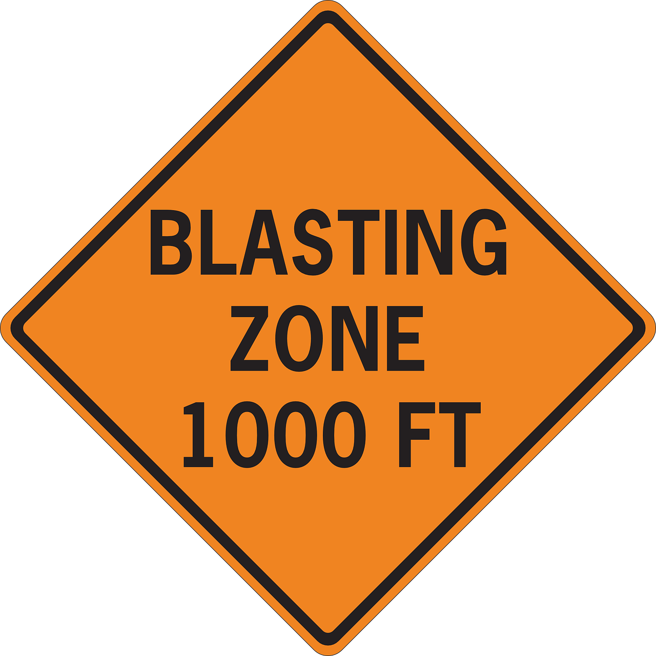 Clipart road outline. Blasting zone feet png