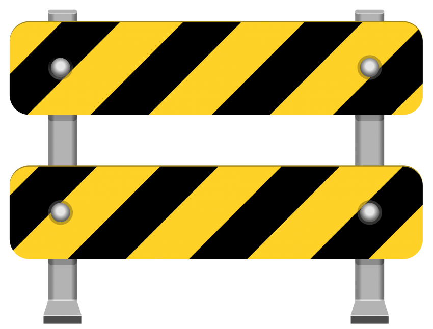 Yellow barricade png free. Hole clipart road