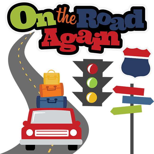On The Road Again SVG scrapbook file vacation svg files road trip