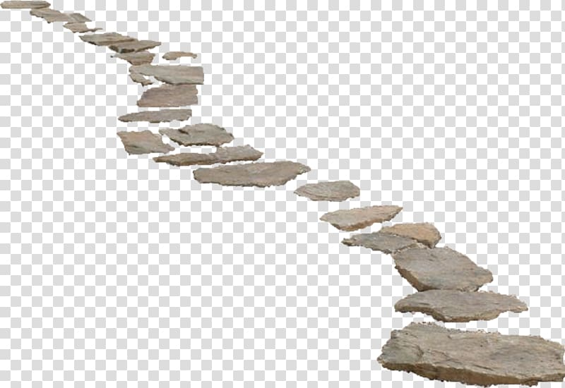 Gray stone fragments illustration. Clipart road path