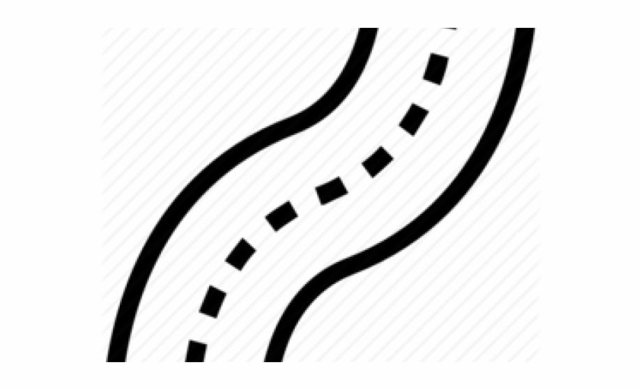 Zigzag line art clip. Clipart road path
