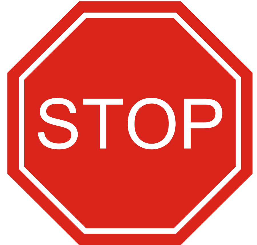 Clipart road powerpoint. Red stop sign clip