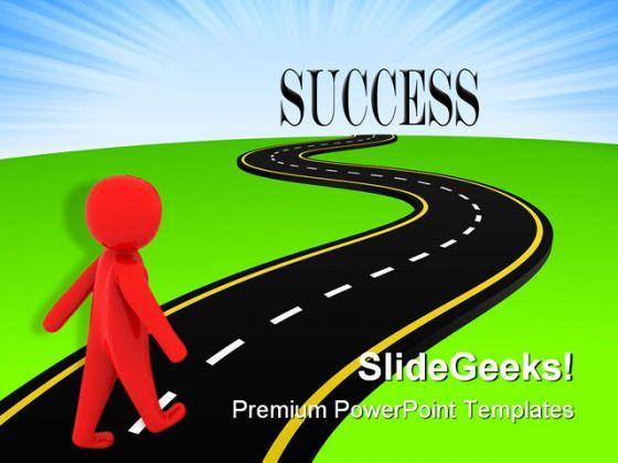 Resolution roadmap to success. Clipart road presentation