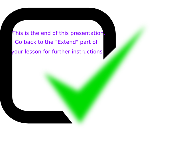 The end of clip. Clipart road presentation