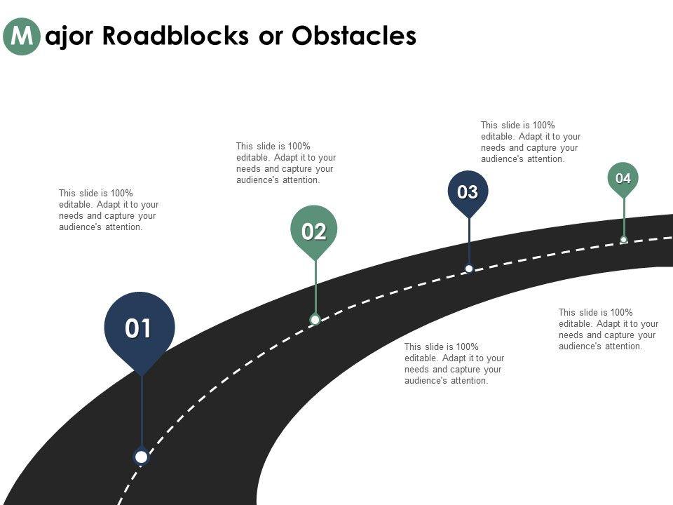 Clipart road presentation. Major roadblocks or obstacles