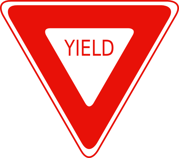 Clipart road printable. Yield sign clip art