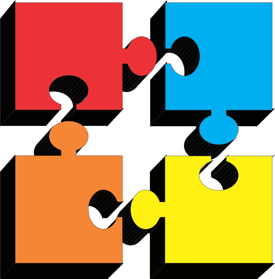 Clipart road puzzle. When pieces fit together