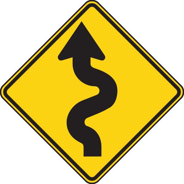 Clipart road raod. Left winding clip art