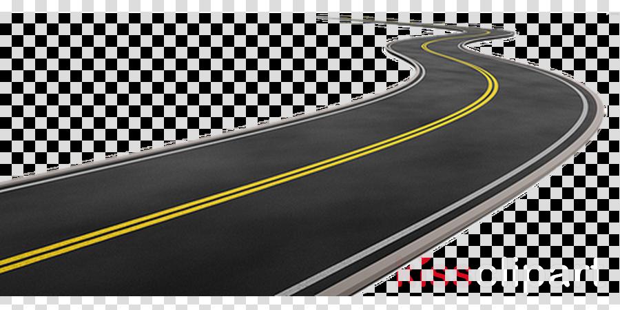 Cartoon curve line transparent. Clipart road raod