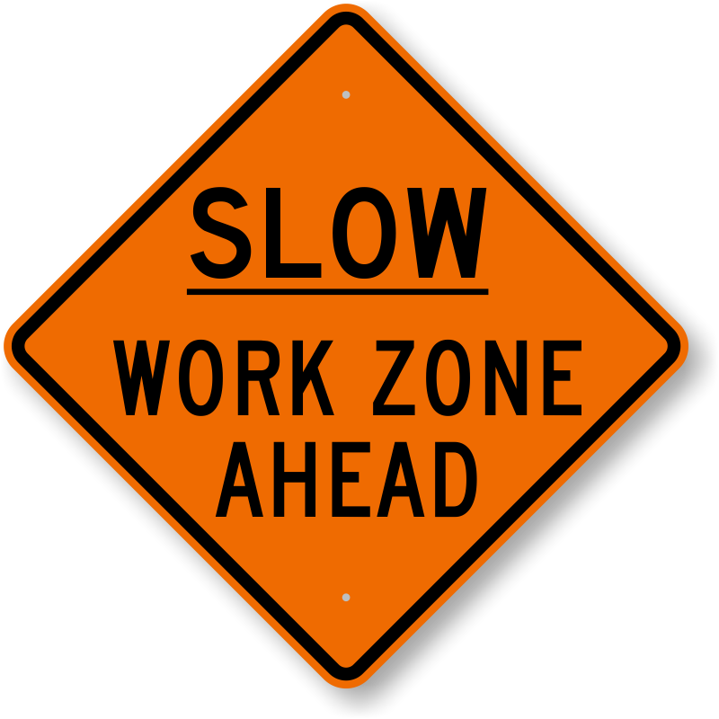 Slow vehicle signs moving. Clipart road road marking