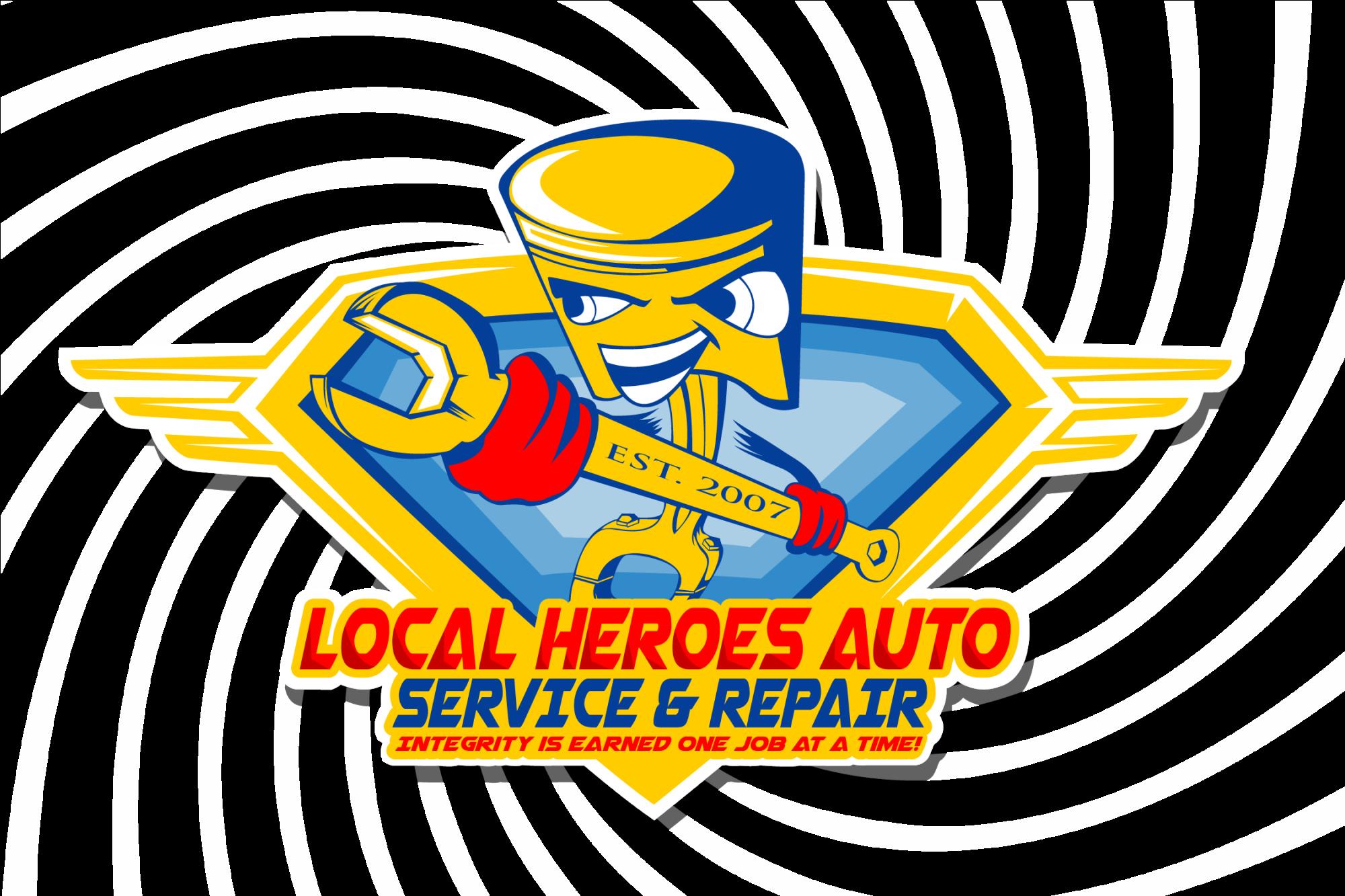 Local heroes auto repair. Mechanic clipart mechanical work