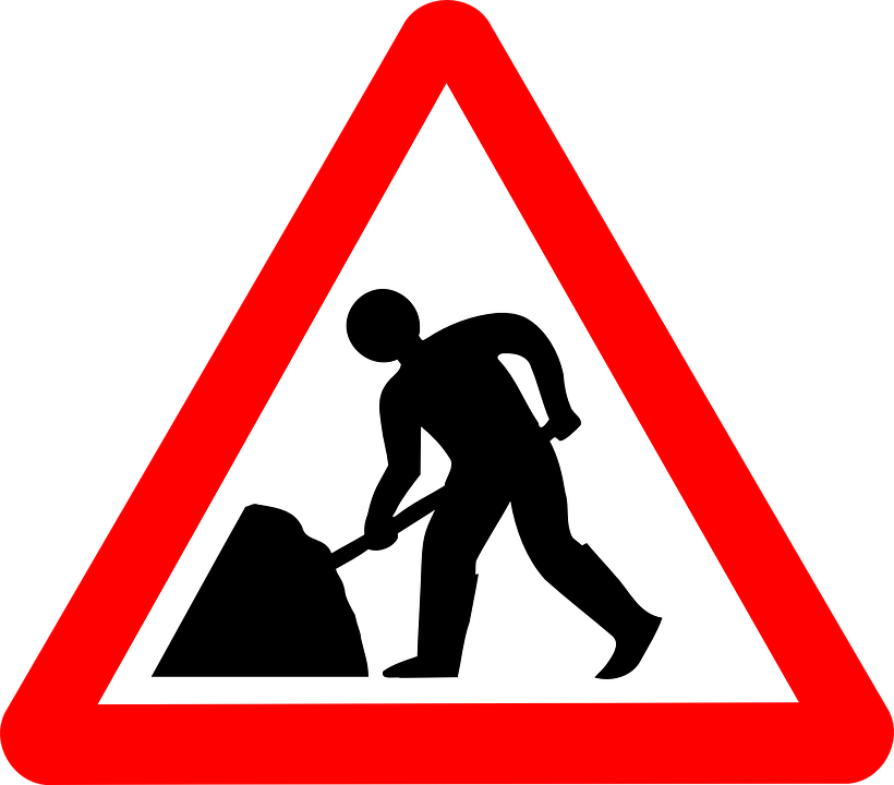 Construction notices city of. Clipart road road repair
