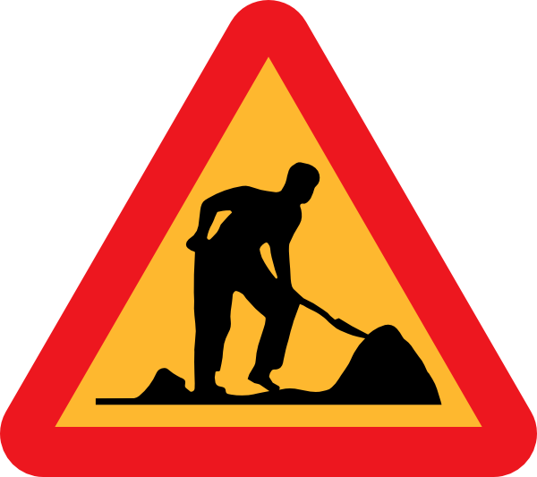 Clipart road road repair. Work under construction clip