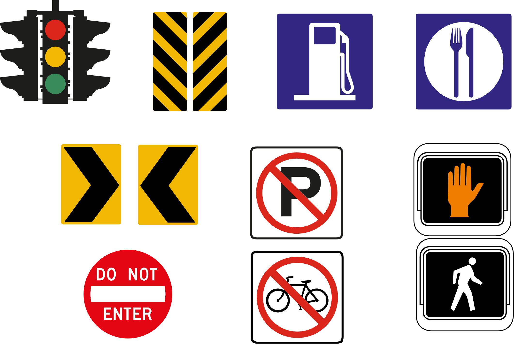 Clipart road road sign. Signs icon set big