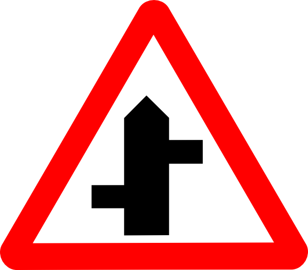 Clipart road road sign. Intersecting clip art at