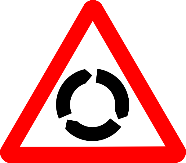 Cycle clipart roundabout. Svg road signs clip