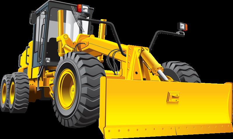 Excavator clipart loader. Grader road heavy equipment