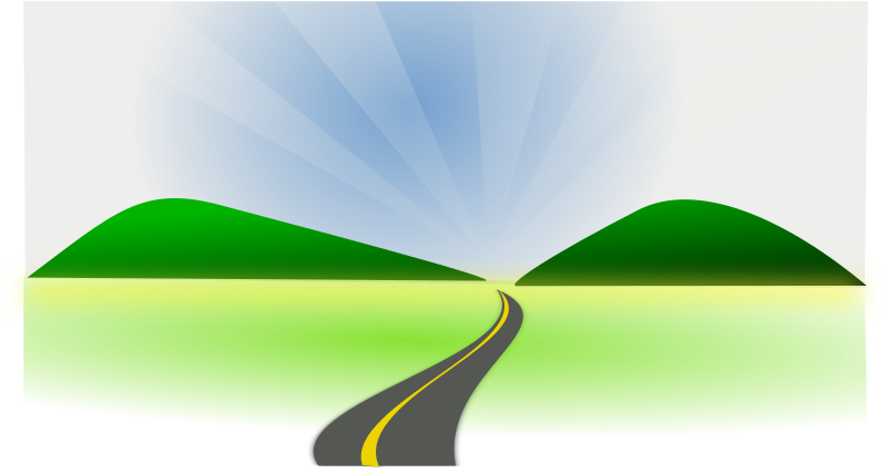 Open clip art countryside. Clipart road roadway
