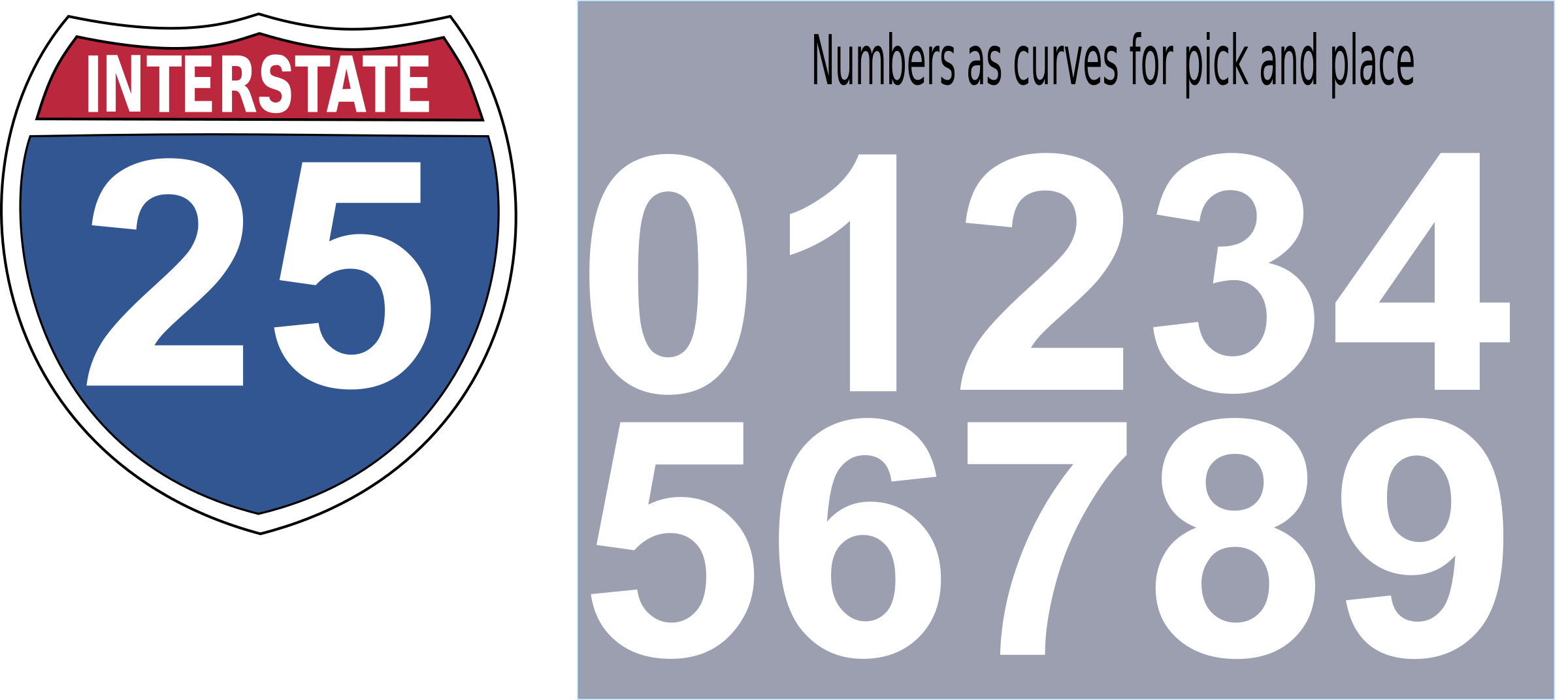Clipart road roadway. Interstate highway sign big