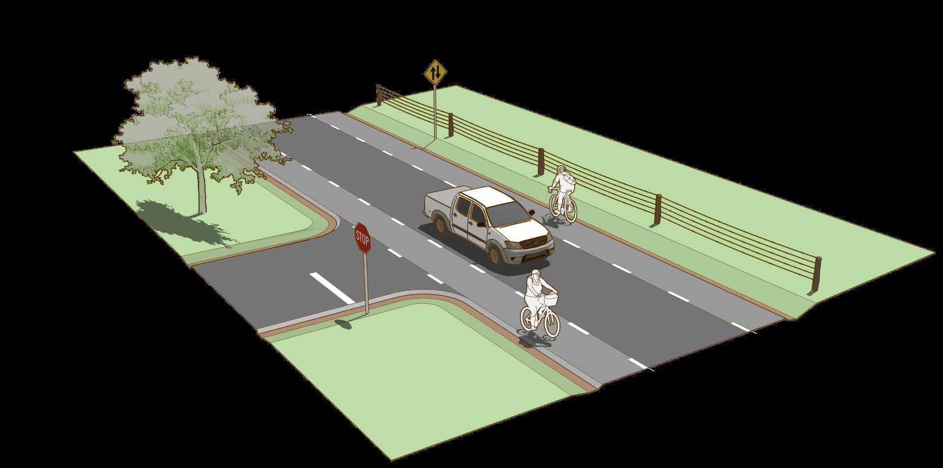 Advisory shoulder design guide. Clipart road rural road
