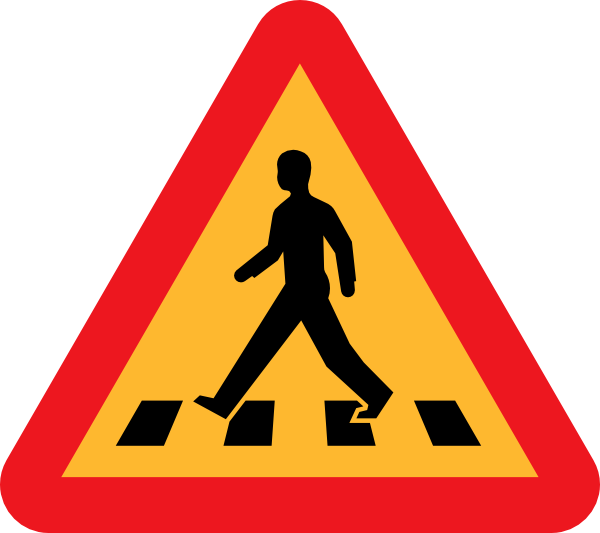 Safety designing for pedestrians. Clipart road sidewalk