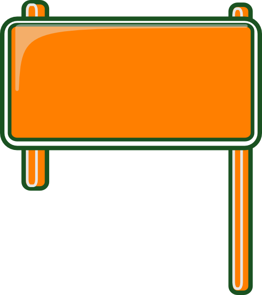 Highway clipart highway exit. Sign blank clip art