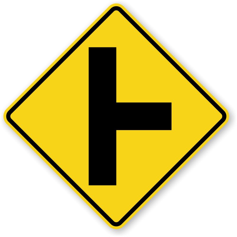 Clipart road signboard. Intersection traffic signs zoom