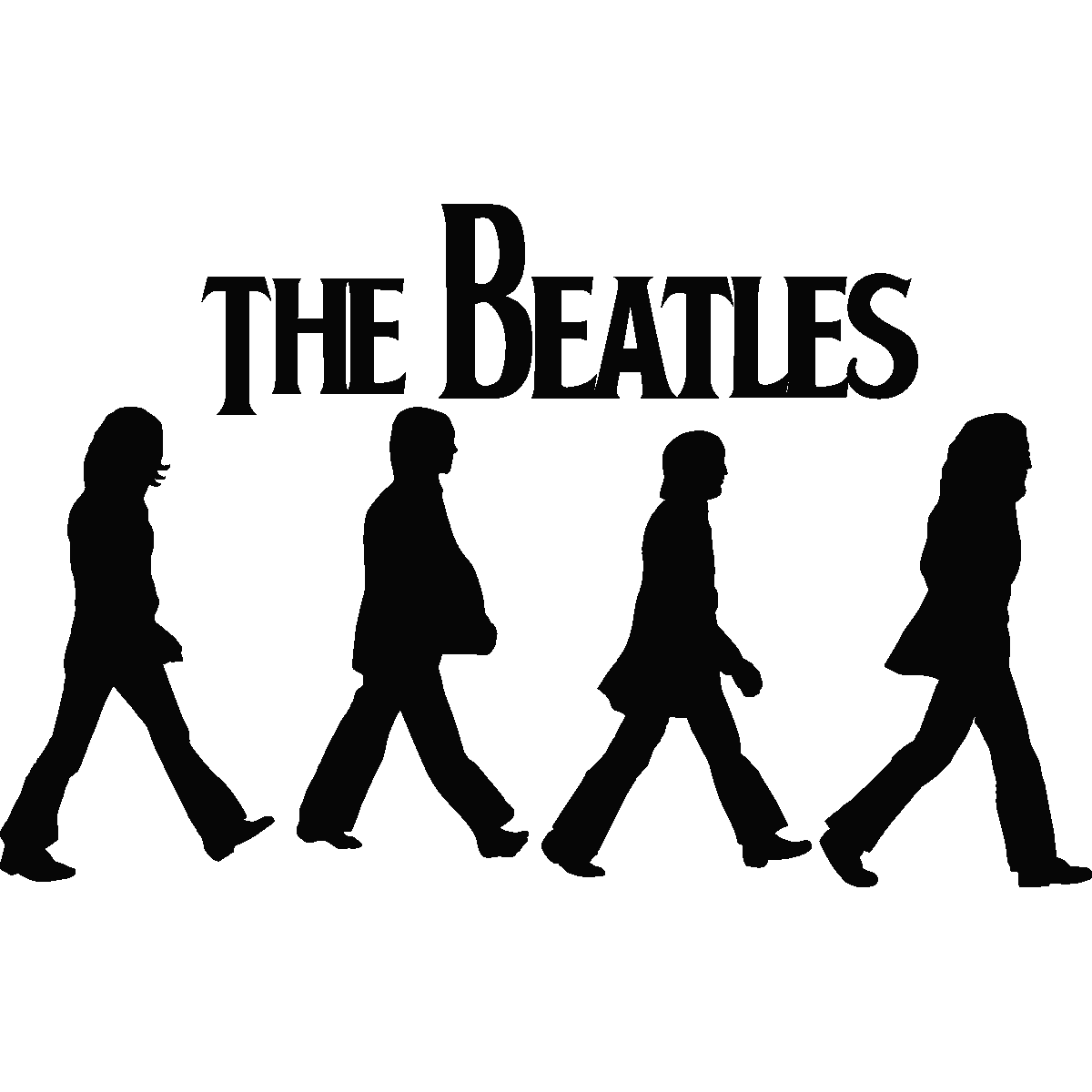 Name clipart abby. Images for beatles silhouette