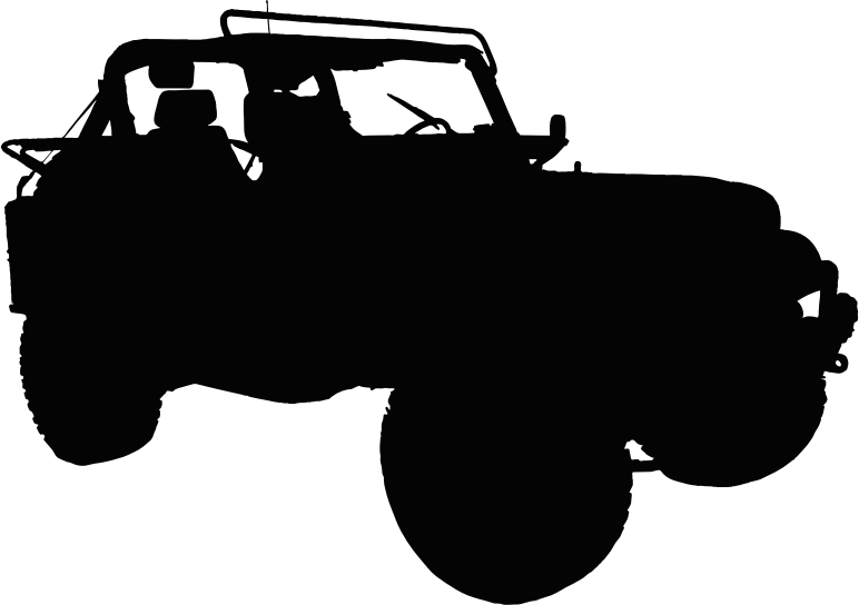 Clipart road silhouette. Jeep medium image png
