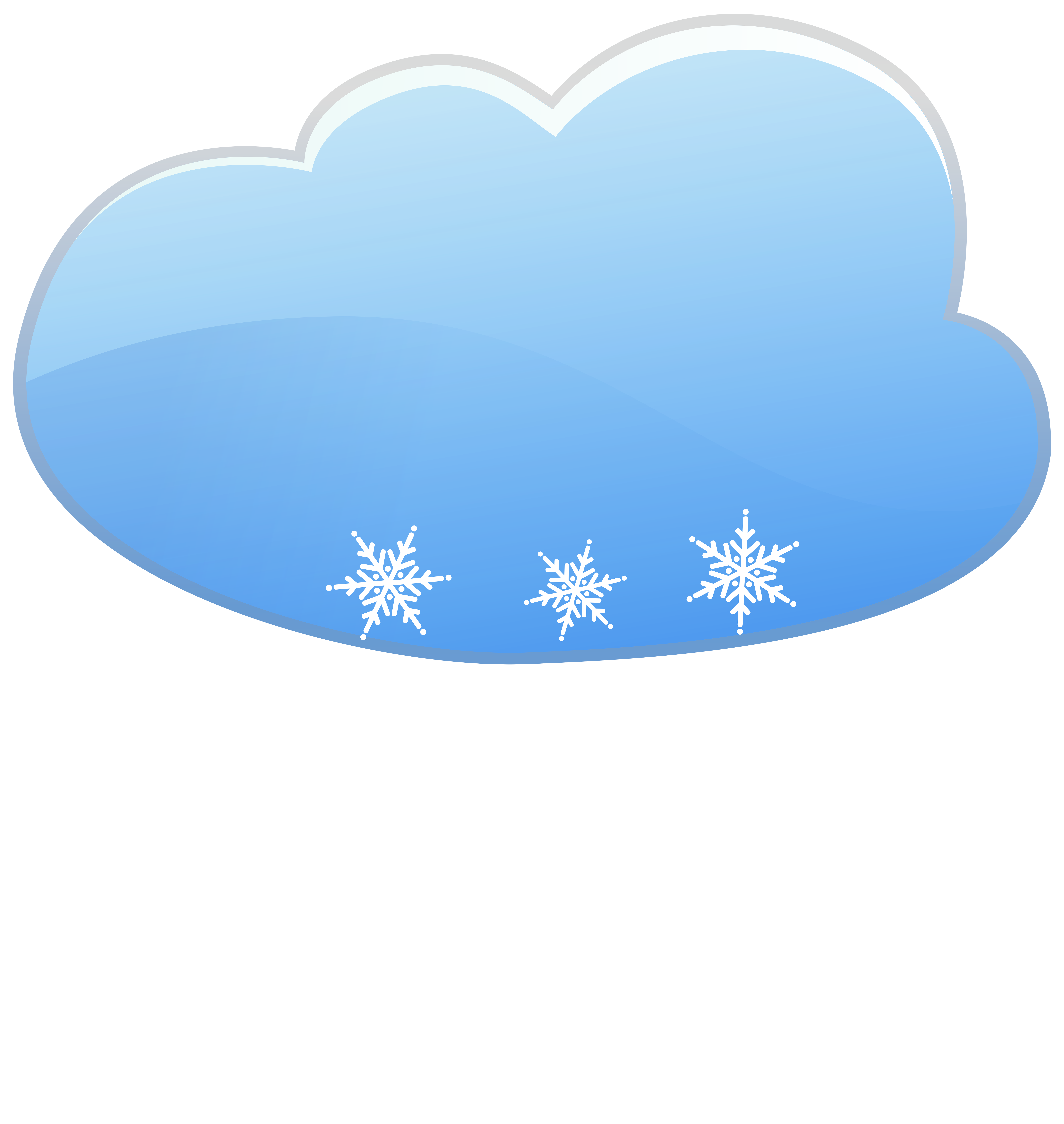 Clipart snow light snow. Cloud and weather icon