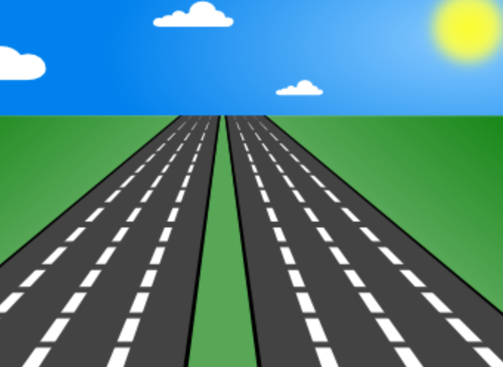 Clipart road straight road. Open clip art
