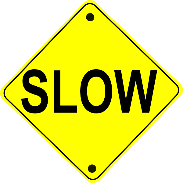 Free sign image slow. Clipart road straight road