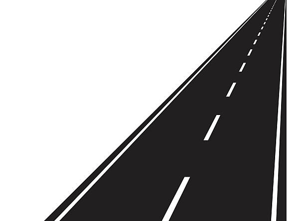 Straight road station . Highway clipart route