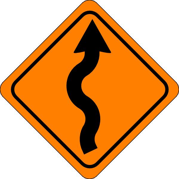 Road sign clip art. Heat clipart curvy