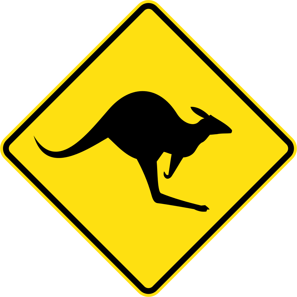 File australia sign w. Clipart road street