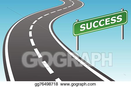 Clipart road success. Vector illustration to eps
