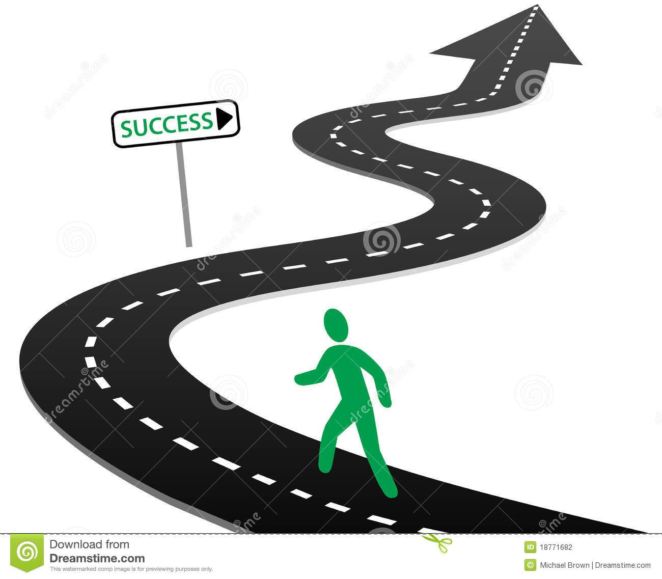 Clipart road success. Life is a journey