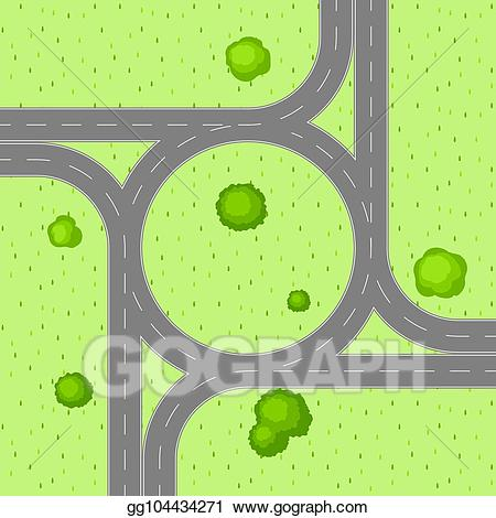 Eps illustration view of. Clipart road top