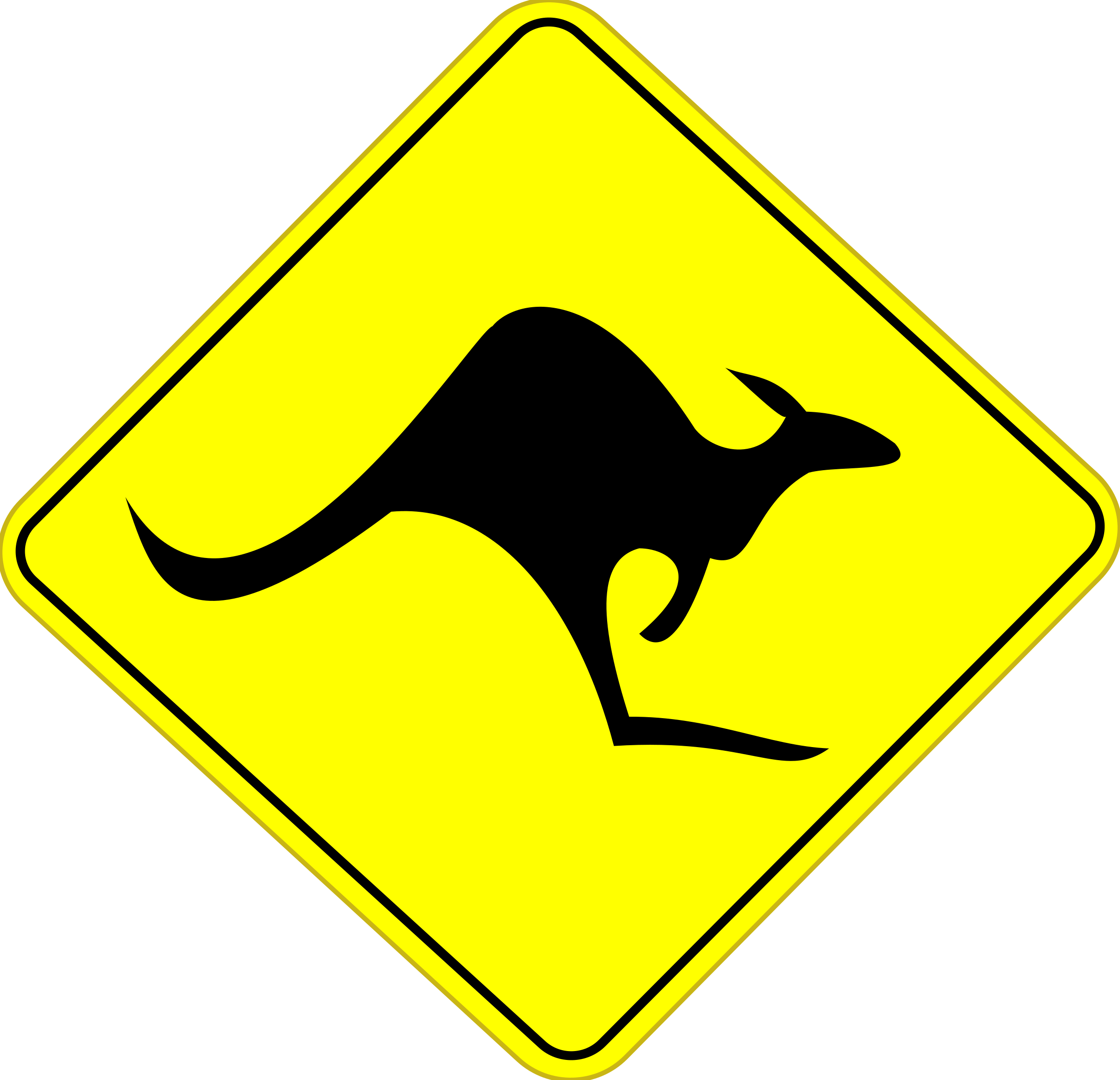 Clipart road trail. Roo sign big image