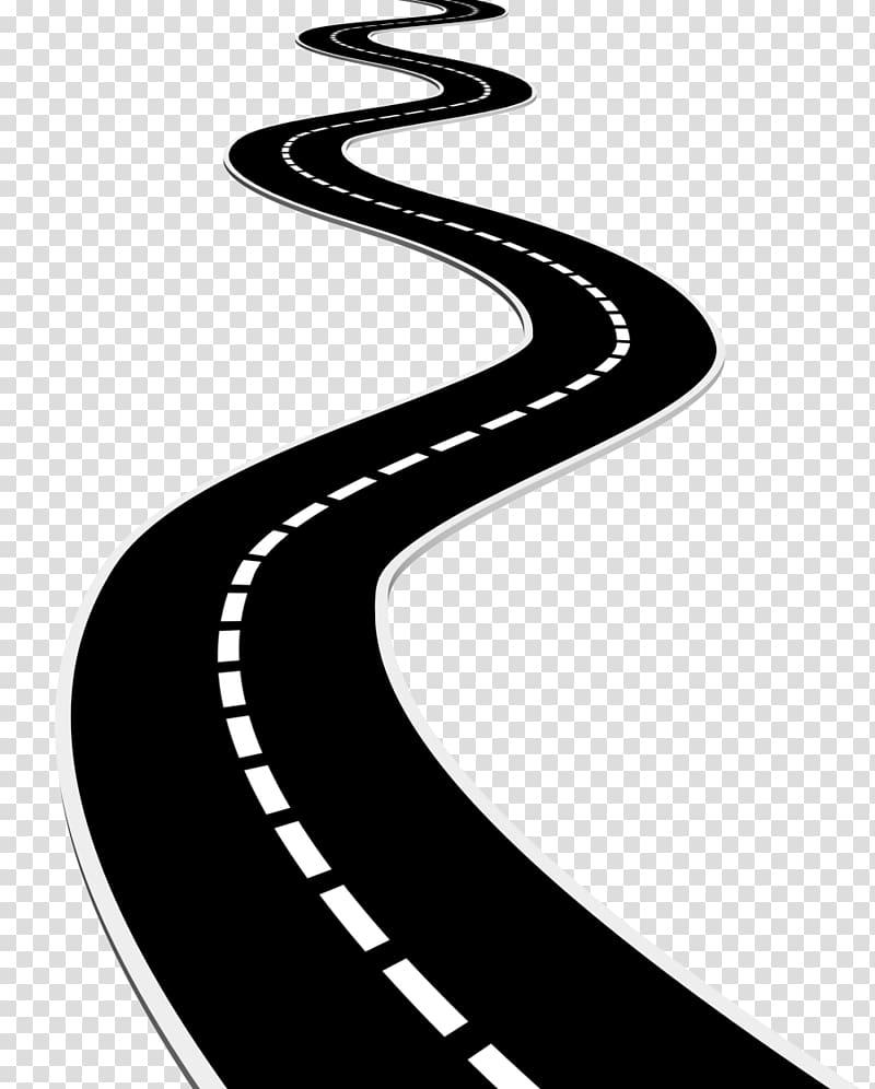 Black graphic surface . Clipart road transparent background
