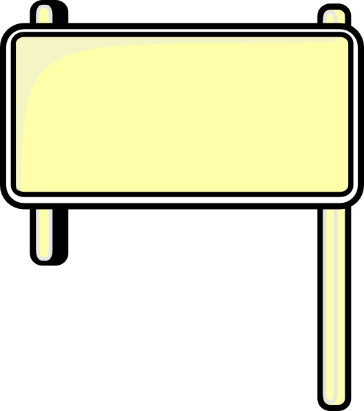 Highway sign blank clip. Clipart road vector