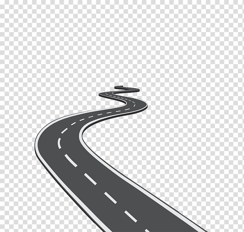 Spiral black vehicle icon. Clipart road winding road