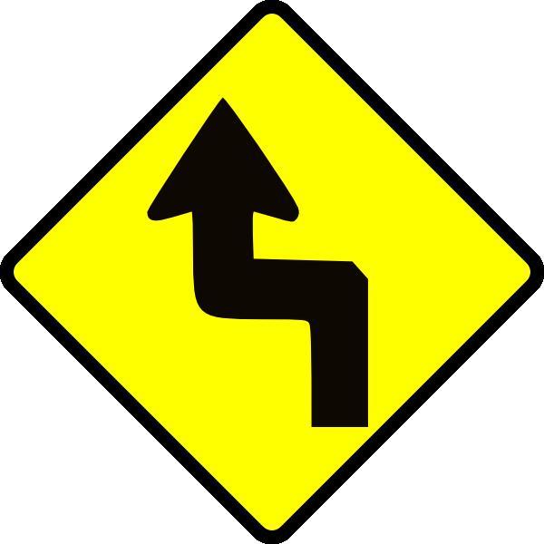 Caution zig zag clip. Highway clipart expressway