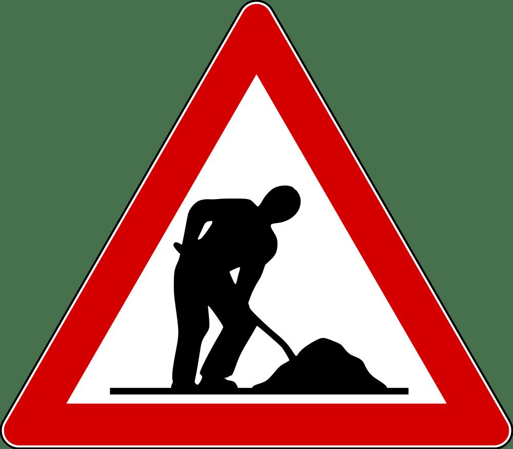 Men at work transparent. Clipart road zigzag road