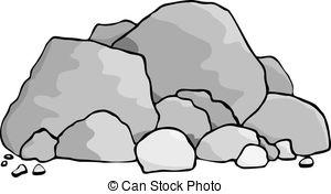 boulder clipart pile rock