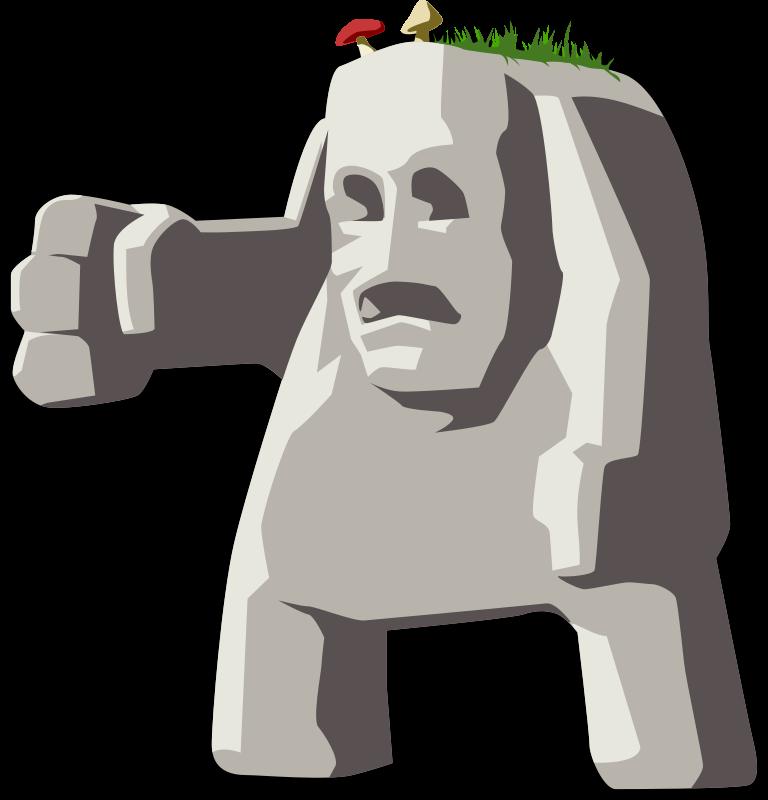 Jokingart com rough. Clipart rock angry