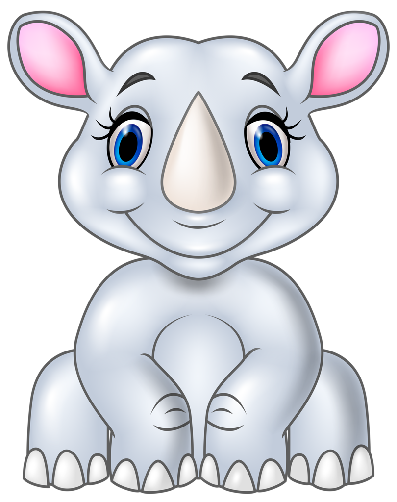 Clipart rock animated.  png pinterest rhinoceros