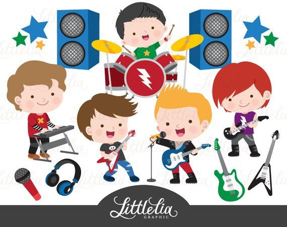 Star boys music products. Clipart rock boy